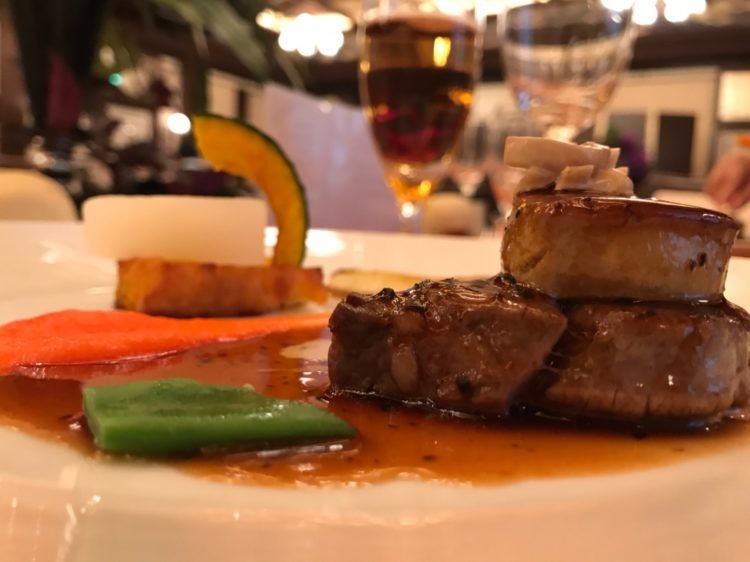 モントレ大阪_牛フィレ肉とフォアグラのポワレ